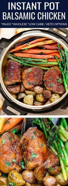 Instant Pot Balsamic Chicken is the perfect easy one pan meal for busy weeknight., Food And Drinks, Instant Pot Balsamic Chicken is the perfect easy one pan meal for busy weeknights. Best of all, this recipe is Paleo, compliant with alternati. Crock Pot Recipes, Paleo Crockpot Recipes, Balsamic Chicken Recipes, Easy Chicken Recipes, Chicken Recipe Instant Pot, Recipe For Instant Pot, Instantpot Chicken Recipes, Chicken Flavors, Poulet Keto
