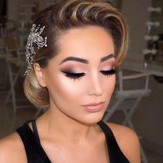 Bridesmaid Makeup Bridal glam▫️ matte mauve tones and glowy skin ▫️ upcoming 4 day master … Wedding Makeup Tips, Bridal Hair And Makeup, Prom Makeup, Wedding Hair And Makeup, Wedding Beauty, Eye Makeup, Hair Makeup, Mauve Makeup, Bridal Beauty