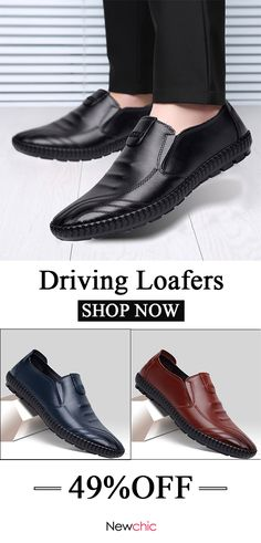 30d51fc0d06  49%off Men Soft Sole Comfy Driving Loafers Slip On Casual Shoes