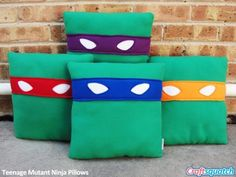 Ninja turtle room - 12 EyePopping Social Media Pillows Because Every Geek Needs An Icon To Hug – Ninja turtle room Baby Pillows, Kids Pillows, Throw Pillows, Ninja Turtle Room, Sewing Pillows, How To Make Pillows, Pillow Set, Bolster Pillow, Pillow Talk
