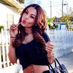 India Westbrooks India Love Pretty Girl Swag Baddie Dope Urban Streetwear Fashion Style Trend Lolipop