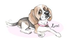 Image may contain: dog Beagle Puppy, Cartoon Dog, Caricature, Pencil Drawings, Digital, Illustration, Dogs, Animals, Image