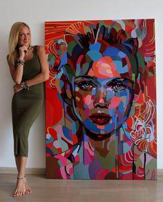 588 Likes, 17 Comments - NOEMI SAFIR Arte Pop, Studios D'art, Pop Art, Art Amour, L'art Du Portrait, Abstract Portrait Painting, Painting Art, Art Design, Face Art