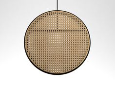 The 'Jacaranda' pendant light by Dennis Abalos. The frame is in steam bent rattan, the other surfaces in woven cane. Clever Design, Magazine Design, Contemporary Interior, Lamp Design, Decoration, Rattan, Design Projects, Interior And Exterior, Design Inspiration