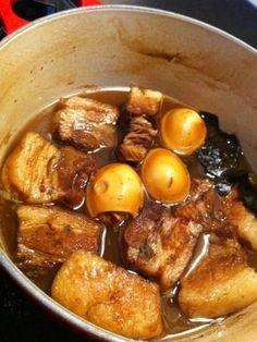 「お箸で切れるトロトロ豚の角煮」角煮は、圧力鍋使うよりもことこと時間をかけて煮込んだ方が絶対おいしい♥ルクルーゼ、ストウブ、土鍋で作ると更においしい♥【楽天レシピ】