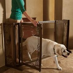 Merveilleux Cool Dog Gate Products   34 H Expandable Free Standing Mesh Pet Gate    Frontgate