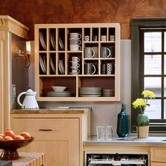 plate storage on wall - Google Search