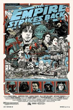 The Empire Strikes Back poster by Tyler Stout.