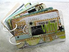 Coffee Girl Crafts: A blog about pretty things: This is Why Minibook - Finished