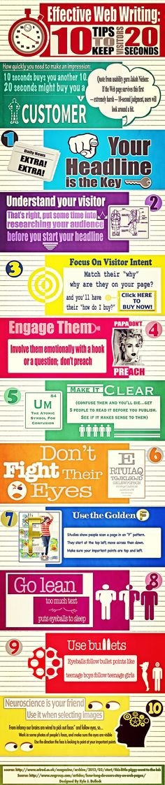 "Here's some tips to help you create effective web texts for the target audience ""AllAboutTheReaders #WritingForTheWeb"
