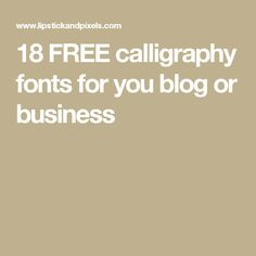 18 FREE calligraphy fonts for you blog or business