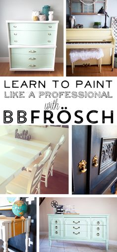 Learn how to paint like a Pro with BB Frosch chalk paint powder || Class in Richmond, VA on March 12 & 13, 2015