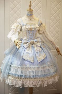 The Nine Songs -The Butterfly Princess- Gorgeous Vintage Classic Lolita Jumper Dress,Lolita Dresses, Old Fashion Dresses, Old Dresses, Vintage Dresses, Dress Fashion, Rock Fashion, Fashion Shirts, 80s Fashion, Fashion Tips, Pretty Outfits