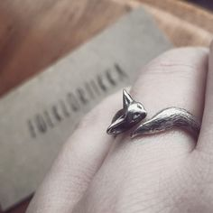 Sterling Silver Fennec Fox Ring  by Folkloriikka for sale on http://hellopretty.co.za