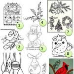 Free embroidery patterns: Christmas
