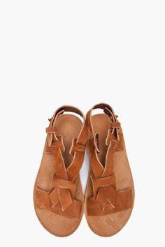 MAISON MARTIN MARGIELA Tan Leather sandals
