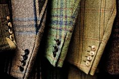 Tweed is the first thing that comes to mind when I think of typical english fashion.
