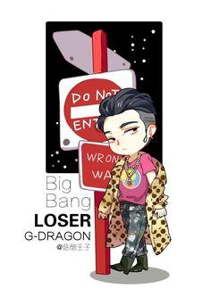 biiiiigbaaaaang — haydee-gd: [FANART] Bigbang - LOSER by 菇倒王子