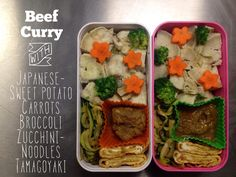 Beef curry and Japanese sweet potato bento in Monbento - paleo