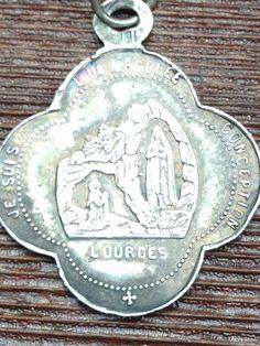 Notre Dame of Lourdes & Sanctuary Antique by CherishedSaints, $74.00