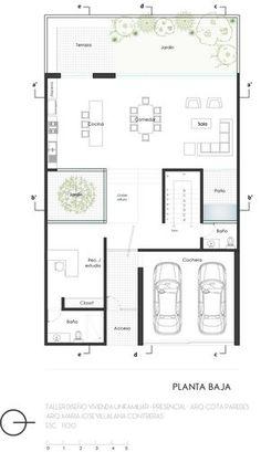 Minimalist Architecture, Modern Architecture House, Architecture Plan, Modern House Plans, Small House Plans, House Floor Plans, Japan House Design, Home Building Design, Apartment Plans