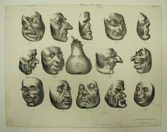 Honoré Daumier, Masques de 1831 on ArtStack #honore-daumier #art