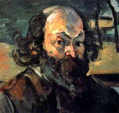 Detalle de un Autorretrato de Cézanne, 1875. En Francia se inscribió en la Academia Suiza para preparar el examen de ingreso en la de Bellas Artes. En el Museo del Louvre descubrió la obra de Caravaggio y de Velázquez, y este hallazgo marcó profundamente su evolución artística.