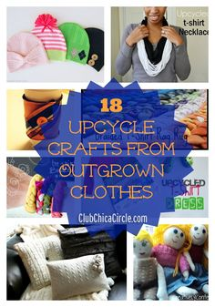 18 Upcycle Crafts from Outgrown Clothes  presented by www.clubchicacircle.com