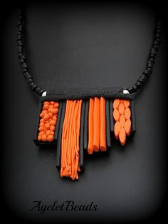 www.facebook.com/ayeletbeads ... polymer clay necklace ... love this!