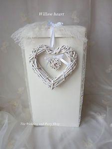f7b74d9960fd WILLOW HEART CARD RECEIVING POST BOX WISHING WELL WEDDING KEEPSAKE