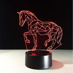 7 Multi-Color Changing Horse Vein LED Lamp