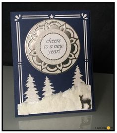 SU...Christmas card...Carols of Christmas, Card Front Builder Dies...