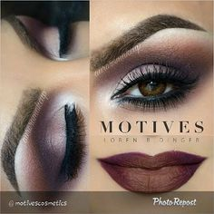 "By @motivescosmetics ""We LOVE this burgundy smokey eye look by @auroramakeup using Motives! It's the perfect dramatic fall look! _________________________________All #motives products are also available internationally at http://global.shop.com/theshopnearn #motd #motivescosmetics #makeup #beauty #glam #mua #eotd"" via @PhotoRepost_app"