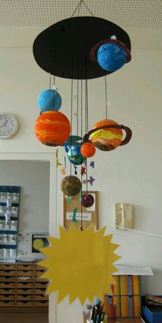 Space crafts for kids are the perfect project for your child at home. With planet crafts for preschoolers, let them learn about the planets, galaxies and more. Space Activities, Science Activities, Science Projects, Space Solar System, Solar System Projects, Space Classroom, Classroom Decor, Space Crafts For Kids, Art For Kids
