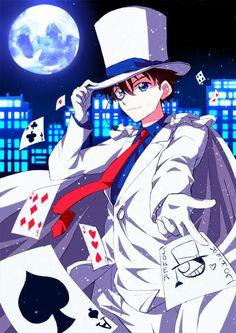 kaito kid yakışıklı amaya sevimli havalı zeki de işte benim bütün animelerdeki 1. favori karakterim 2. de shinci