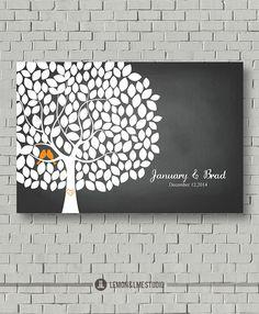 Wedding Keepsake Tree Art  // Wedding Guest by MarshmallowInkLLC, $55.00