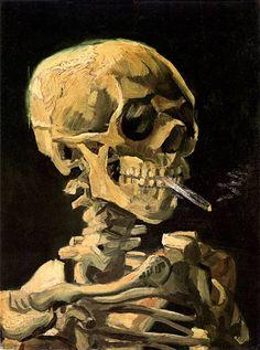 Bild:  Vincent van Gogh - Schädel mit brennender Zigarette