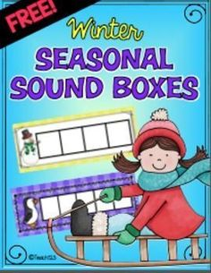 FREE winter themed soundboxes. Use these with your guided reading groups. Great tool to help students spell or count syllables. Can also be used in word work center.