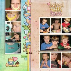 "Kate Hadfield Designs creative team ""Baked With Love"" layout by Keela"