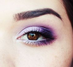 Makeup Ideas : Sweet Silver And Purple Eye Make Up Inspiration To Beautify Themselves With Purple Eye Make Up Purple Eye Makeup For Brown Eyes. Purple Eye Makeup Ideas. Purple Eye Makeup. #prom