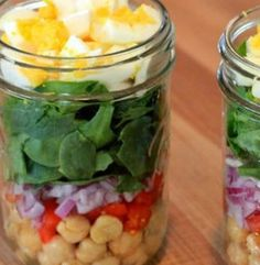Spinach Salad Jars | Simple Dish | Quick, Easy, & Healthy Recipes for Dinner