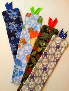 bookmarks from scrap fabric - Google Search