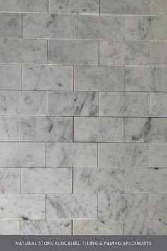 Looking for some interior design inspiration for a modern, contemporary kitchen? Our Carrara marble metro tiles ensure a whiter background with more defined grey veining throughout, giving these decorative tiles a beautiful, understated elegance.What more could you ask for? Head over to the website to find all the details. #naturalstoneconsulting #naturalstone #marbletiles Marble Tiles, Marble Floor, Carrara Marble, Stone Tiles, Tile Floor, Kitchen Wall Tiles, Kitchen Floor, Bathroom Wall, Utility Room Designs