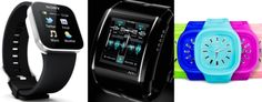 The coolest high-tech watches, by Sony SmartWatch, HD3 Slyde, and Remix (L-R: Sony; Slyde; Remix)