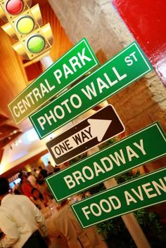 Seji's Little Man in the Big Apple Party: NYC street signs