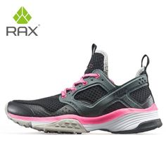 Rax Men Running Shoes Breathable Outdoor Shoes for Jogging Lightweight Trekking Shoes Women Anti-slip Outdoor Sneakers for Men Lacing Shoes For Running, Cheap Running Shoes, Trail Running Shoes, Trekking Shoes, Comfortable Sneakers, Sneaker Brands, Types Of Shoes, Slip, Athletic Shoe