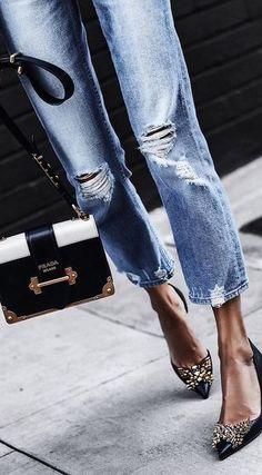 Detailed heels.