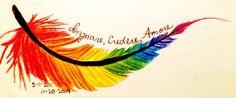 Tattoo Design RAINBOW FEATHER by gangbangbarbie