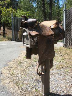 old saddle mailbox