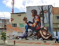 """""""Nuevo Mural por Fintan Magee en las calles de Bogotá en Colombia"""